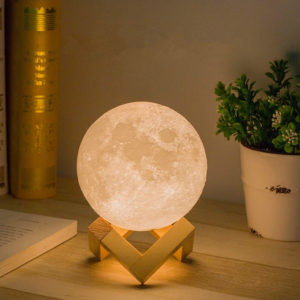 12CM Touch Sensor LED Moon Lamp Night Light 5 Colors