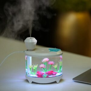 Air Humidifier Fish Tank Plant Essential Oils Diffuser USB Light Humidificador for Aromatherapy