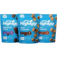 HighKey Keto Food Low Carb Snack Cookies Variety Pack – Chocolate Chip, Brownie Bites & Snickerdoodle – 3 Pack – Gluten Free & No Sugar Added, Diabetic, Paleo, Dessert Sweets and Diet Foods – 2323