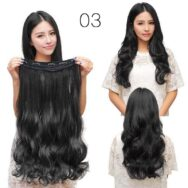 5 Clip in Curly Black Hair Extension – Fashion Style